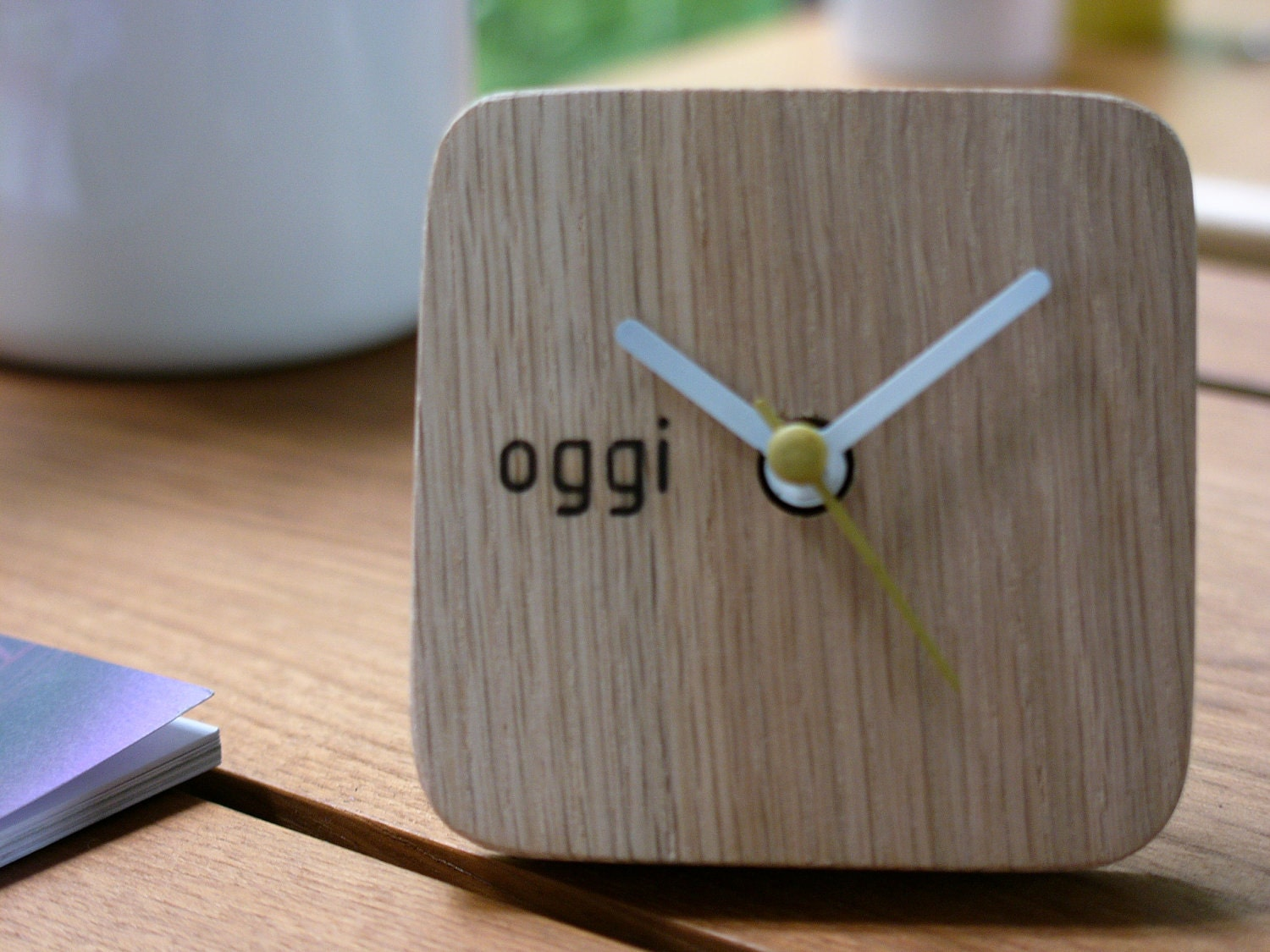 Handmade Wooden Desk Clock Made From Recycle Wood In My