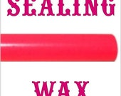 Hot Pink glue gun sealing wax sticks - 5 pieces - make your own perfect wax seals