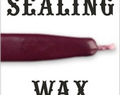 Wine color traditional wax sticks with wicks - Scottish style breakable sealing wax - 10 pieces - 1/2 PRICE SALE