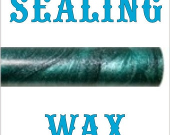 1/2 PRICE BLOW OUT !!!! - Metallic Turquoise sealing wax - traditional breakable wax but in a glue gun format - 10 sticks