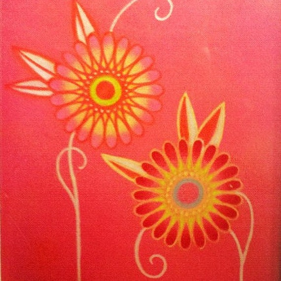 bright daisies drawing