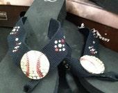 SoftBall Rhinestone Flip Flops