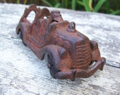 Antique Old Cast Iron Toy Fire Engine Truck 1920's