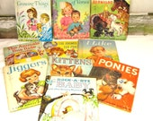 REDUCED Instant Collection of 10 Childrens Story Books Rand McNally Junior Elf Books Vintage Books