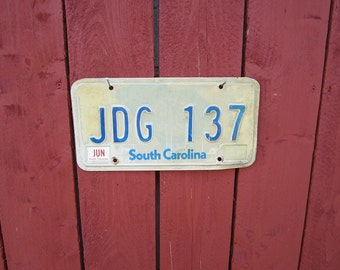 License Plate Antique Original  South Carolina License Plate
