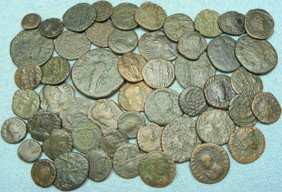 True Roman Bronze Coins 2000 Years Old