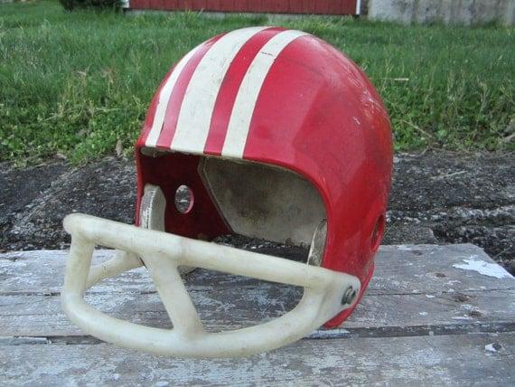 Vintage Wilson Kids Football Helmet Red Plastic Helmet Throwback Original 1970s Helmet