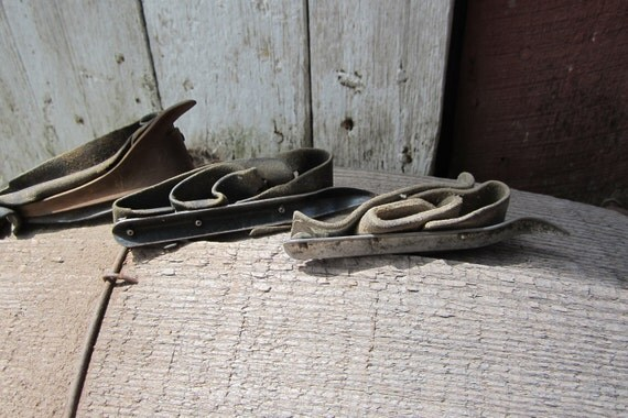 Instant Collection of 3 Vintage Old Antique Farm Corn Husker Shucker Hand Tools Metal Leather The boss & 2