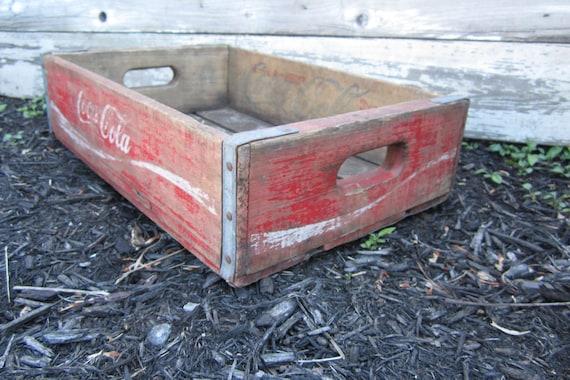 Antique Wood Coke Crate Beverage Delivery Box Coca Cola Vintage