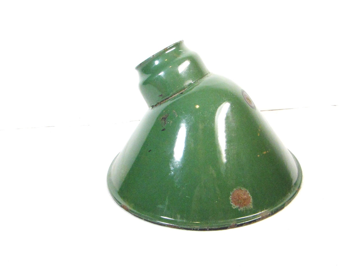 Antique Green Porcelain Light Shade Industrial Metal Lamp