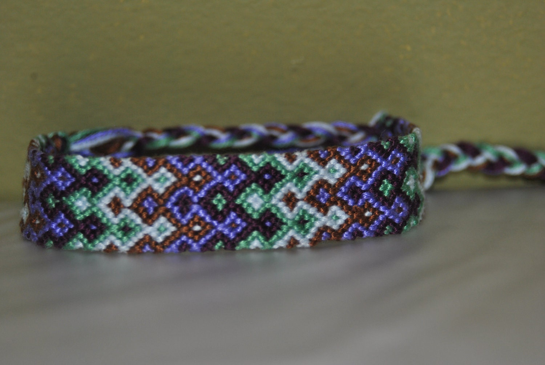 aquamarine diamond pattern friendship bracelet. Black Bedroom Furniture Sets. Home Design Ideas