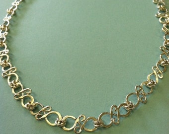 Linked Sterling Silver Necklace
