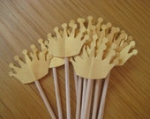 Golden Crown Cupcake Toppers x 12