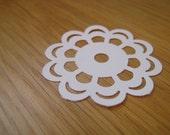 50 x Large White Paper Doily Confetti - WEDDINGS - ROMANCE