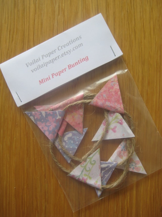 Mini Paper Bunting by Voilai - In Bloom - Home Decor - Gift Wrap