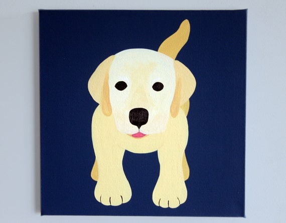 Items Similar To Labrador Dog Nursery Art Painting On
