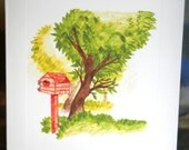 Bird House Notecard with envelope