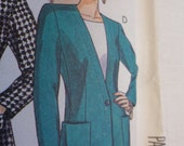 90s Sewing Pattern Cardigan Jacket  McCalls 5004 Misses Size 20 UNCUT