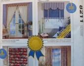 Sewing Pattern Curtains Home Dec in a Sec McCalls 8211 UNCUT