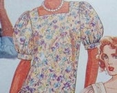 80s Sewing Pattern Dress Misses Pullover Easy McCalls 3524 Size 6, 8, 10, 12 UNCUT