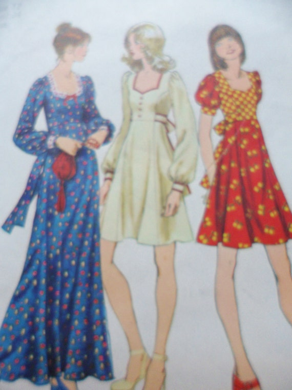 70s Sewing Pattern Dress Simplicity 5347 Misses Size 12 UNCUT