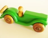 Green Wood Toy Car
