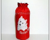 Westies Rule Red Insulated Water Bottle Carrier