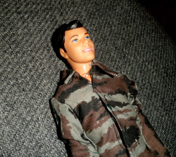 Clothes to fit Ken: Camouflage Coveralls