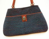 Purse, shoulder bag, hand woven, Autumn colors