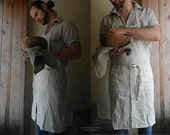 OLD FARMHOUSE collection. Handmade Linen Apron From Striped Linen - KnockKnockLinen