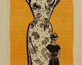 "Vintage 1950s Anne Adams Mail Order Wiggle Dress Pattern 4663 Size 16 (36"" Bust) UNCUT"