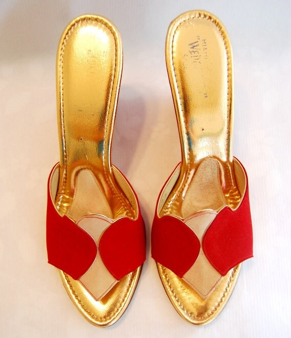 RESERVED Vintage Late 1950s or Early 60s Wedgelings by Jack Rogers Wedge Heels // Size 6 N