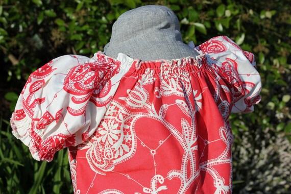 The Tea Time Dress in Central Park - Boutique Peasant Dress Little Girls Size 9 - 18 months, 2T, 3T, 4t, 5t, 6, 7, 8
