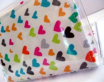Quilted Vinyl Wallet - Michael Miller Sweethearts Multi (In-Stock, Ready to Ship)