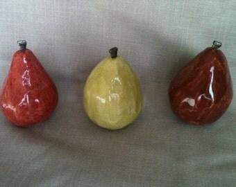 Decorative ceramic pears