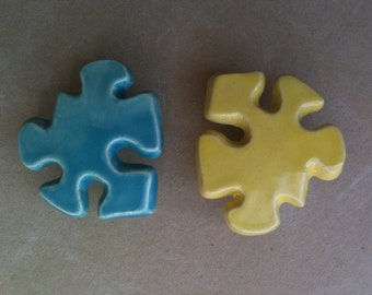 puzzle piece furniture knobs, drawer pulls, cabinet hardware