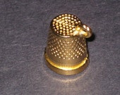 Gold plate Thimble bead