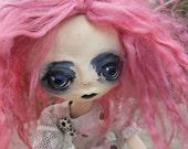 RESERVED Polymer Clay Doll Eliza The Alchemist