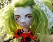 Polymer Clay Doll with Polka Dots Juliette