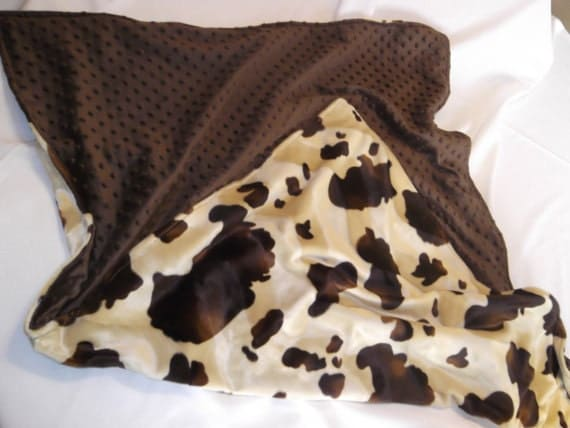 Items Similar To Western Baby Blanket Cow Print And Minky
