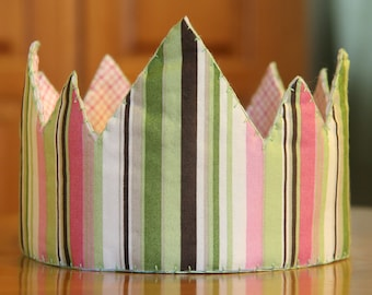 Cloth Crown, Pink  - Reversible