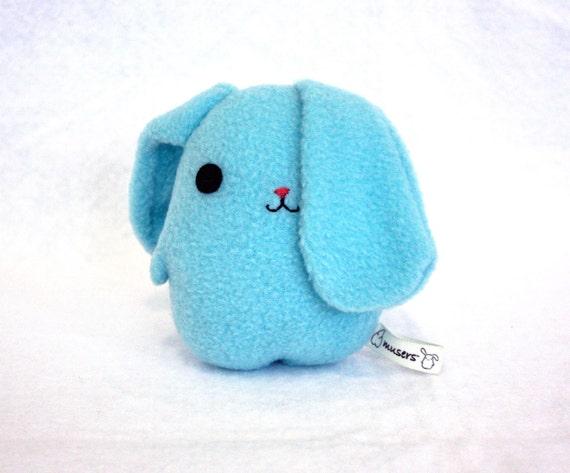 Eggbunny Sky, rabbit plush bunny, light sky blue, stuffed animal Muser