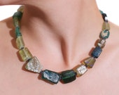 Necklace: Glass Bead Necklace Made from Old Roman Bottles