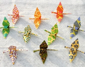 Origami Cranes 100 small Colorful Pattern Origami Paper  Cranes