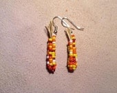 Native American woven indian corn earrings