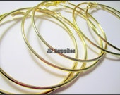 Hoop Earrings - 3 inches - Gold -3pairs