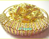 Basketball Wives Inspired Square Gold Rondelle Spacers for Earrings 50 pcs
