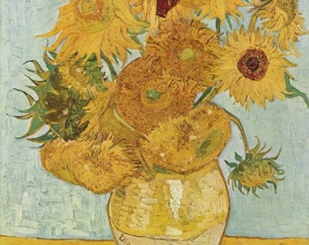 Famous Sunflower Painting Print by Van Gogh
