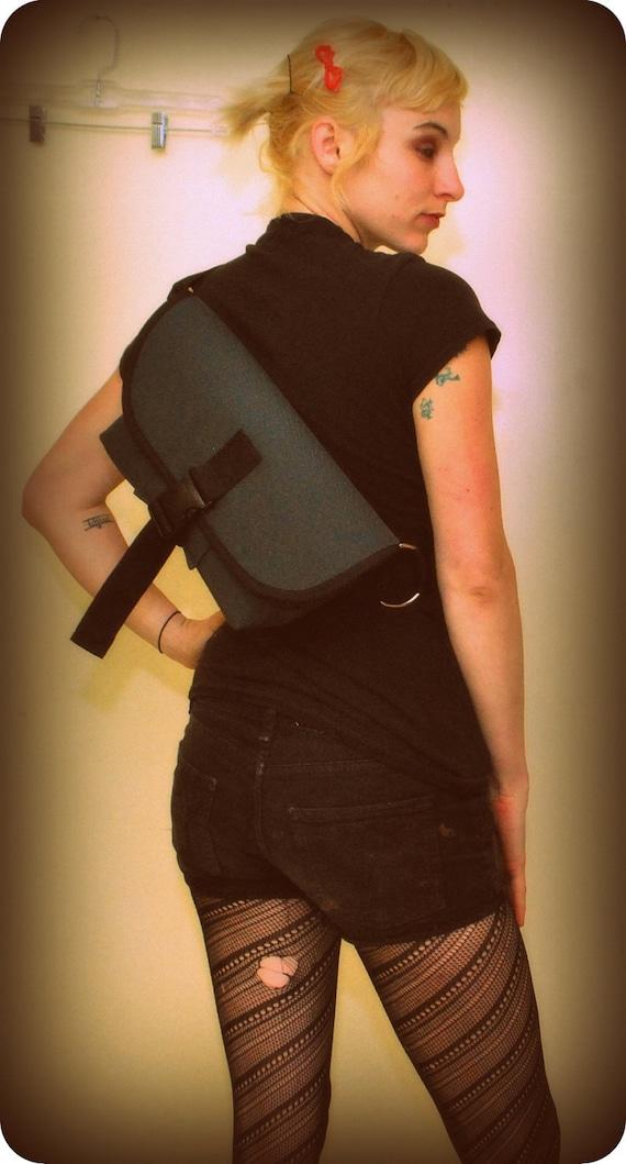 Cordura Waterproof MINI bike messenger bag/ purse/shoulder bag. the LACEWING by SIRENbags