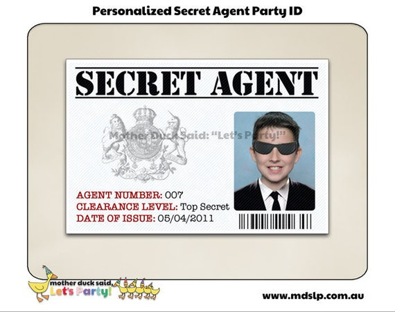 Id badges printable bing images for Spy id card template